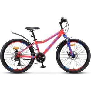Велосипед Stels Navigator-410 MD 24 21-sp V010 13 Неоновый-красный
