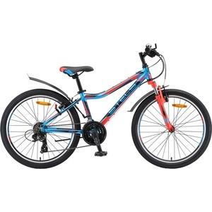 Велосипед Stels Navigator 450 V 24 V010 (2019) 13 Синий/красный/черный велосипед stels navigator 410 md 24 21 sp v010 13 неоновый красный