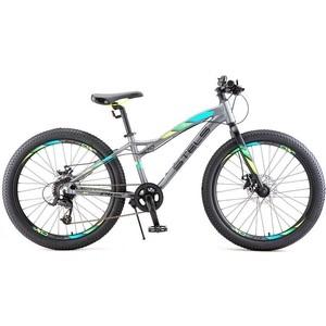 Велосипед Stels Navigator 470 MD 24+ V010 (2018) 13.5 Антрацитовый велосипед stels navigator 410 md 24 21 sp v010 13 неоновый красный