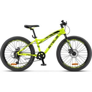 Велосипед Stels Navigator 470 MD 24+ V010 (2018) 13.5 Неоновый лайм велосипед stels navigator 410 md 24 21 sp v010 13 неоновый красный