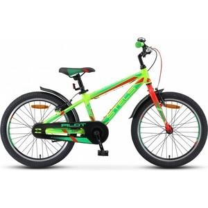 Велосипед Stels Pilot 250 Gent 20 V010 (2018) 11 Неон зеленый/неон красный велосипед stels pilot 200 gent 20 v021 2017