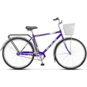 Велосипед Stels Navigator 300 Gent 28 Z010 (2018) 20 Синий (С КОРЗИНОЙ) велосипед stels pilot 200 gent 20 v021 2017