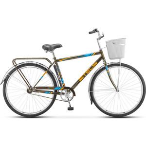 Велосипед Stels Navigator 300 Gent 28 Z010 (2018) 20 Серый (С КОРЗИНОЙ) велосипед stels pilot 200 gent 20 v021 2017