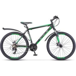 Велосипед Stels Navigator 620 MD 26 V010 (2018) 14 Черный/зеленый/антрацит велосипед stels navigator 410 md 24 21 sp v010 13 неоновый красный