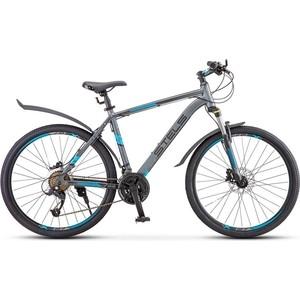 Велосипед Stels Navigator 640 D 26 V010 (2019) 17 Серый/синий велосипед stels xt280 28 v010 2020 23 серый желтый