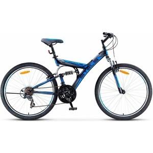 Велосипед Stels Focus V 26 18 sp V030 (2018) Черный/синий