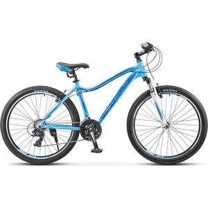 Велосипед Stels Miss 6000 V 26 V020 (2018) 17 Голубой велосипед stels miss 6000 v 26 v030 2018 рама 15 морская волна оранжевый