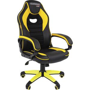 все цены на Офисноекресло Chairman Game 16 экопремиум черный/желтый онлайн