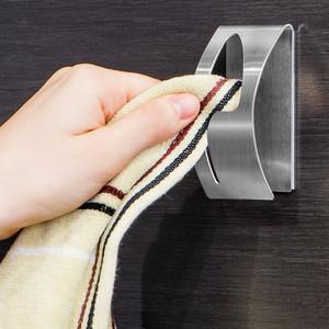 Вешалка Tatkraft POINT для полотенец, самоклеящаяся, из нержавеющей стали, выдерживает вес до 5 кг