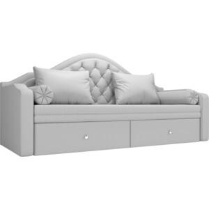 Прямой детский диван АртМебель Сойер экокожа белый прямой детский диван артмебель сойер вельвет коричневый