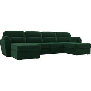 Диван П-образный Лига Диванов Бостон велюр MR зеленый диван п образный лига диванов бостон велюр mr коричневый