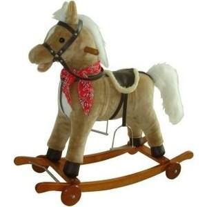 Лошадка-качалка Наша Игрушка на колесах 78 см (61053)