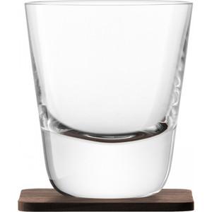 Набор из 2 стаканов с деревянными подставками 250 мл LSA International Arran Whisky (G1212-09-301)