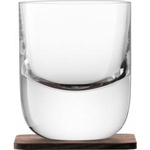 Набор из 2 стаканов с деревянными подставками 270 мл LSA International Renfrew Whisky (G1211-09-301)
