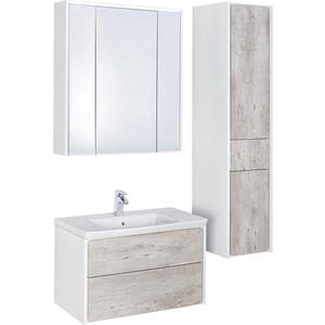 цена на Мебель для ванной Roca Ronda 80 бетон/белый