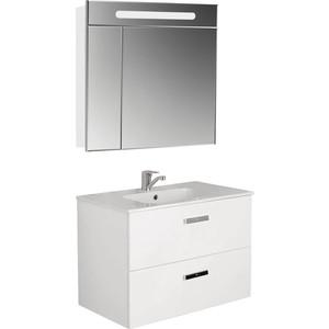 Мебель для ванной Roca Victoria Nord 80 белый глянец недорго, оригинальная цена