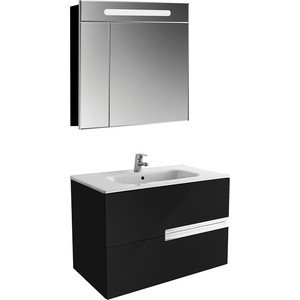 Мебель для ванной Roca Victoria Nord Black Edition 80 черный глянец