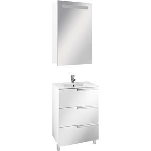 Мебель для ванной Roca Victoria Nord Ice Edition 60 напольный, белый глянец