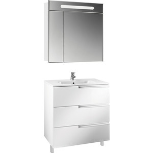 Мебель для ванной Roca Victoria Nord Ice Edition 80 напольный, белый глянец