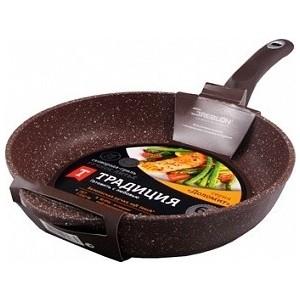 Сковорода-гриль 26 см Традиция Доломит (ТД7261)