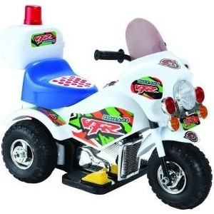 Электромобиль Наша Игрушка Мотоцикл Турне белый, 6V4.5AH (PB-301A white)