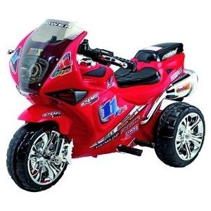 Электромобиль Наша Игрушка Мотоцикл Гонка, красн., свет, звук, аккум 6V/4, 5AH , 18W (ZP2131 RED)