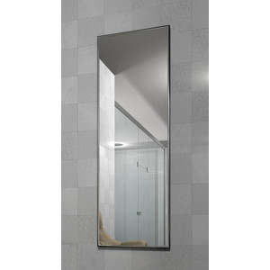 Зеркало настенное в раме Мебелик Сельетта-5 глянец серебро 150х50х9