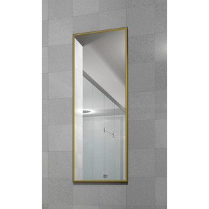 Зеркало настенное в раме Мебелик Сельетта-6 матовое золото 110х40х9