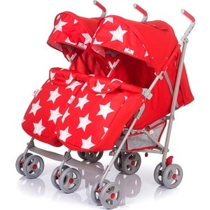 Коляска-трость BabyHit TWICEY (двойня) RED STARS Красный со звездами