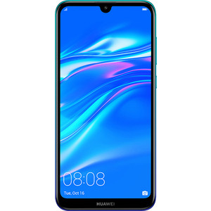 Смартфон Huawei Y7 (2019) Aurora Blue смартфон huawei mate 20 t045340 midnight blue