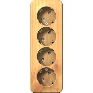Розетка четверная с защитными шторками и заземлением Schneider Electric ОП BLANCA 16А 250В ясень (BLNRA011415) розетка schneider electric mureva styl оп с защитными шторками с заземлением цвет антрацит mur36034