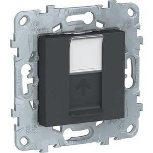 цена на Розетка компьютерная Schneider Electric UNICA NEW RJ45 категории 5е UTP антрацит (NU541154)