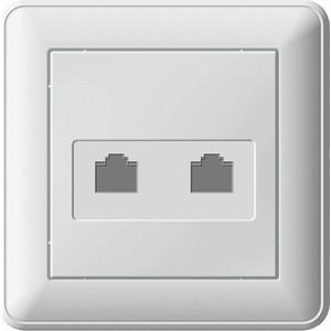 Розетка компьютерная двойная Schneider Electric СП W59 белый (RSI-251KK5E-18 (РСИ-251КК5Е-18)) картридж easyprint ih 563 аналог ch563he черный для hp deskjet 1050 2050 3000 3050 3050a