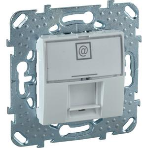 Фото - Механизм компьютерной розетки Schneider Electric СП Unica RJ45 белый (MGU5.421.18ZD) механизм розетки simon 15 tv сп одиночная цвет белый 1591475 030