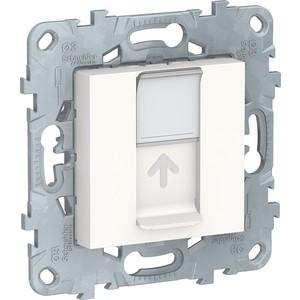 цена на Механизм компьютерной розетки Schneider Electric UNICA NEW RJ45 категории 5е UTP белый (NU541118)