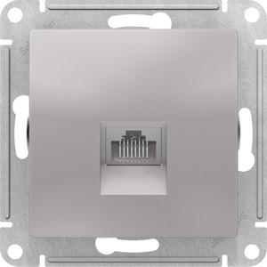 Механизм компьютерной розетки Schneider Electric ATLAS DESIGN RJ45 алюминий (ATN000383)