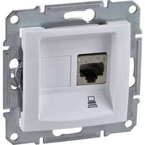 Фото - Механизм компьютерной розетки Schneider Electric СП Sedna RJ45 белый (SDN4300121) механизм розетки simon 15 tv сп одиночная цвет белый 1591475 030