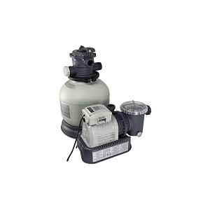Песочный фильтр-насос Intex 26646 Krystal Clear 7,9м3/ч резервуар для песка 23кг картриджный фильтр насос intex 28638 krystal clear для бассейнов более 457 см
