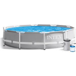 Каркасный бассейн Intex 26702 Prism Frame 305x76 см 4485л (фильтр-насос 1250л/ч) картриджный фильтр насос intex 28638 krystal clear для бассейнов более 457 см