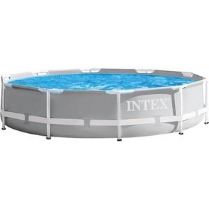 Каркасный бассейн Intex 26726 Prism Frame 457x122 см (фильтр-насос 3785л/ч) лестница, тент, подстилка картриджный фильтр насос intex 28638 krystal clear для бассейнов более 457 см