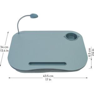 Стол для ноутбука Tatkraft PATRIK с подушкой и подсветкой, 43,5х34х6,5 cм