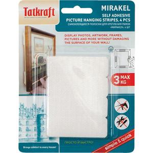 Самоклеющиеся полоски Tatkraft MIRAKEL, подходят для крепления рамок, картин, фотографий фото