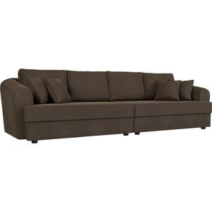Диван Лига Диванов Милтон рогожка коричневый прямой диван лига диванов милтон экокожа коричневый прямой