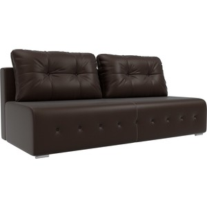 Диван Лига Диванов Лондон экокожа коричневый прямой диван лига диванов милтон экокожа коричневый прямой