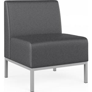 Прямая одноместная секция Euroforma Компакт Рогожка Bravo, Grey серый
