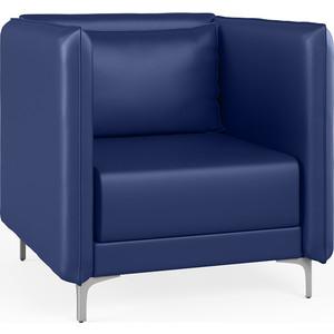 Кресло Euroforma Графит Н кожа рулонная dakota, 2106 темно-синий