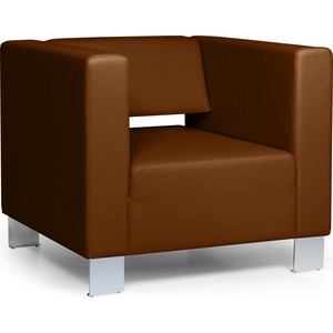 Кресло Euroforma Горизонт кожа рулонная dakota, 116 коричневый dakota