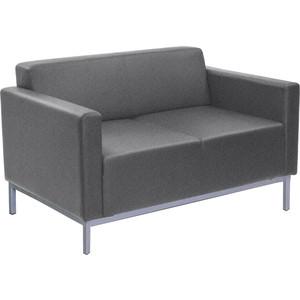 Двухместный диван Euroforma Евро люкс рогожка bravo/grey