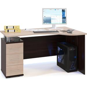 Стол компьютерный Гамма КСТ-1400 венге+вяз