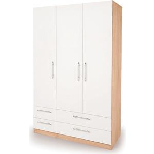Шкаф комбинированный Гамма Шарм 120х45 дуб сонома+белый шкаф комбинированный гамма шарм 140х60 белый дуб сонома
